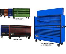 """DX SERIES 72"""" 17 DRAWER ROLLER CABINETS & EXTREME POWER WORKSTATION® HUTCHES"""